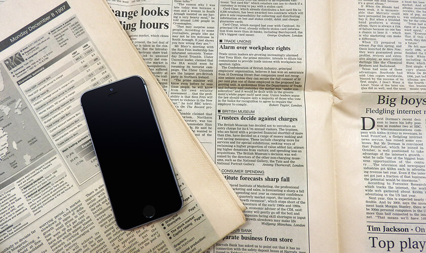 FX情報を新聞から集める
